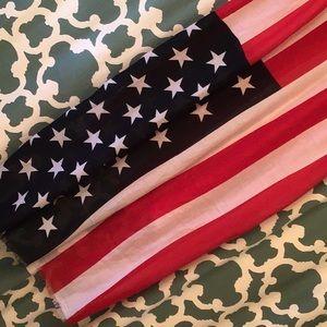Pashmina American Flag Shawl Scarf Wrap